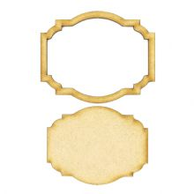 Frame and Panel 23 - Wooden 3mm MDF Laser Cut Craft Blank Scrapbook Topper